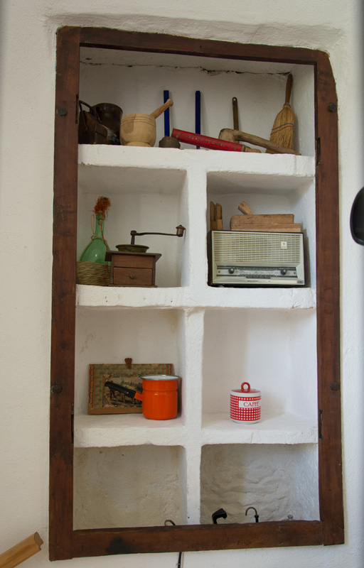 Open cupboard in entrance hall